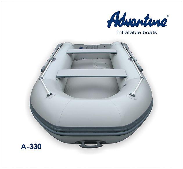 Nafukovací motorový člun Adventure ARTA A-330 je ideálním člunem na dovolenou u moře. Pro pohon člunu s skvěle hodí lodní závěsné motory o výkonu 5 - 10 koní.