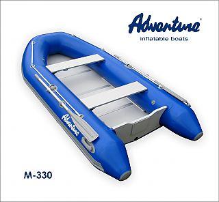 Nafukovací motorové čluny s nafukovacím kýlem mají obvykle deskovou podlážku zakrývající celé dno, tedy i pevný a stabilní základ paluby.