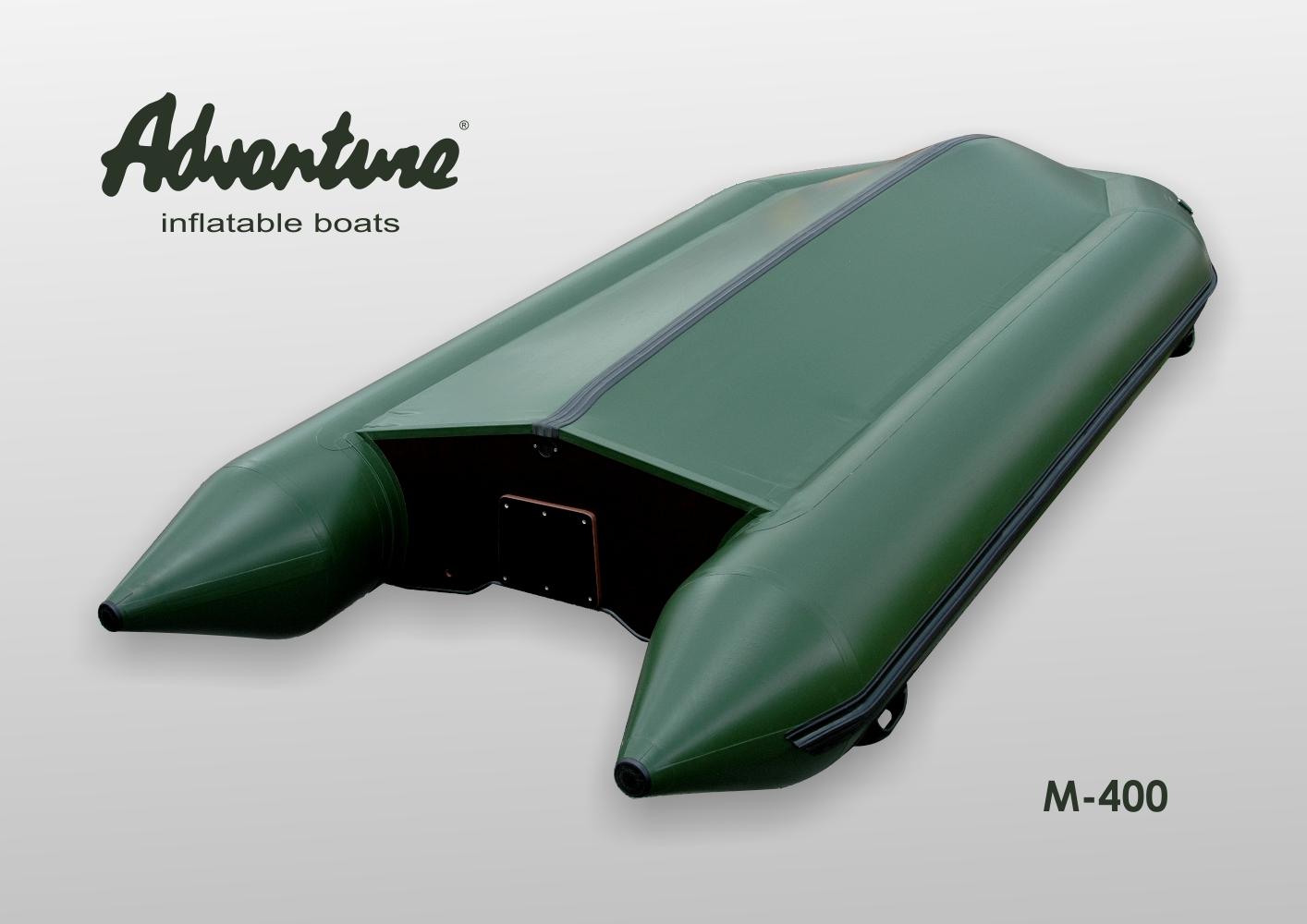Jízdní vlastnosti nafukovacího člunu Adventure M-400 jsou založené v excelentně tvarovaném nafukovacím kýlu