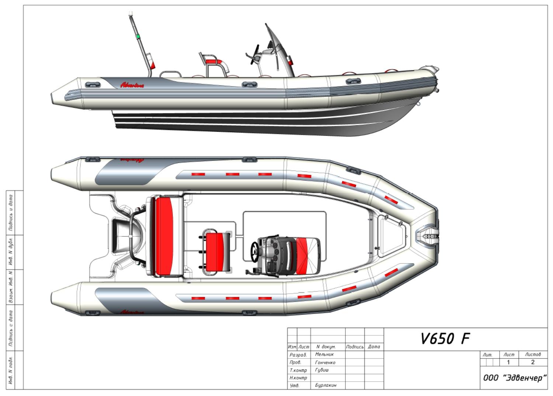 Nafukovací člun Adventure V-650 v limitované edici pro francouzský trh