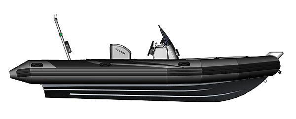 Nafukovací člun s laminátovým kýlem RIB Adventure V-610 Super Lux