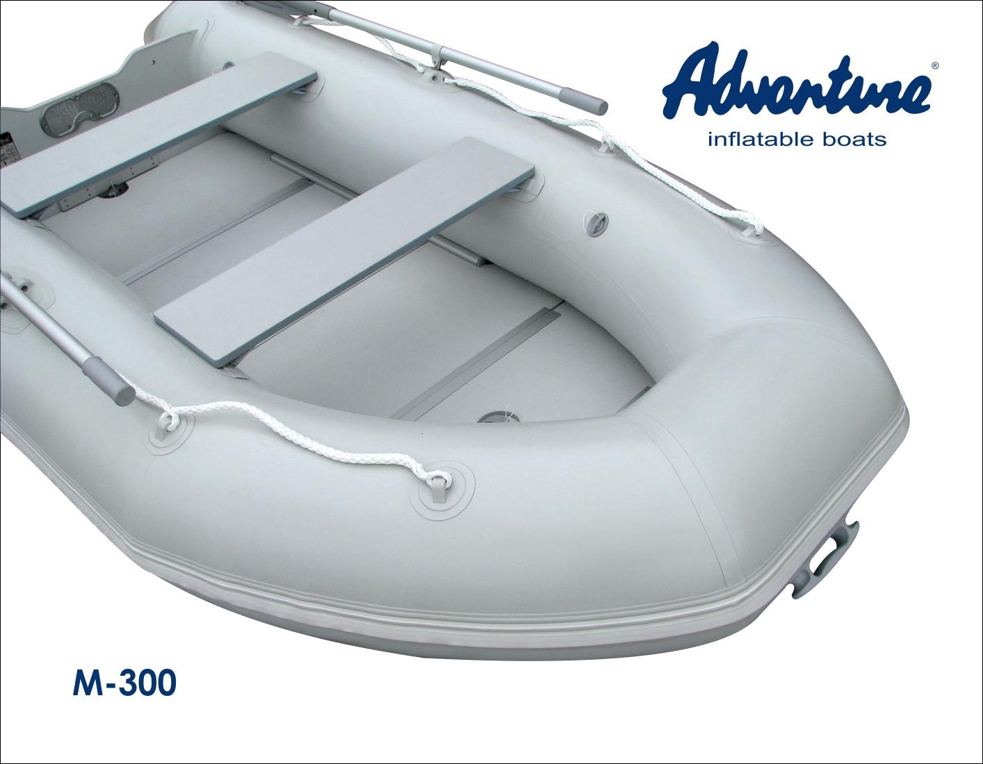 Nafukovací člun Adventure M-300 nabízí bezkonkurenční jízdní vlastnosti ve své třídě