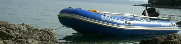 Nafukovací a laminátové čluny s lodními motory do výkonu 10 koní umožňující užívání na velkých přehradách a nádržích v ČR