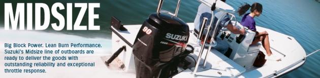 Lodní motory Suzuki závěsné spalovací 4-takty