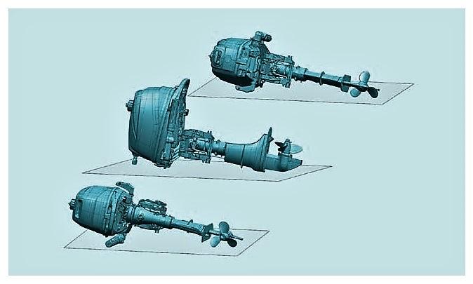 Lodní motor SUZUKI marine DF5A je možné pokládat na tři strany, což výrazně zjednodušuje jakoukoli manipulaci s vaším motorem