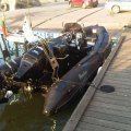Nafukovací motorový člun Adventure V-550 Black