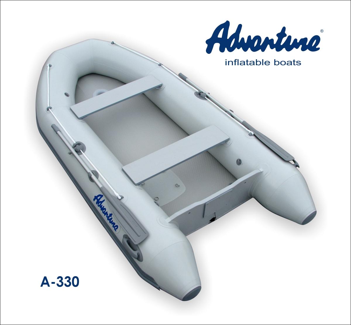 Nafukovací člun s vysokotlakou podlážkou s kýlem, Adventure A-330