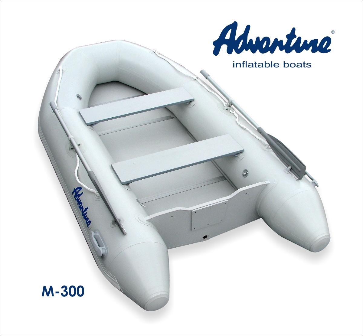 Nafukovací motorový člun Adventure M-300 - světle šedý