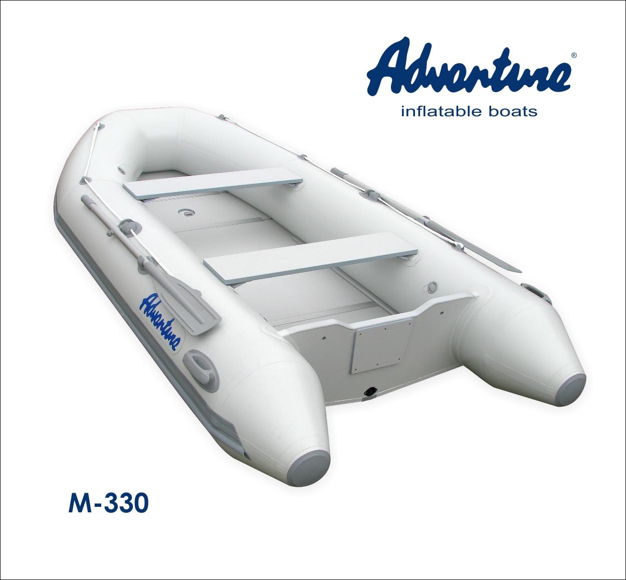 Nafukovací motorový člun Adventure M-330 - světle šedý
